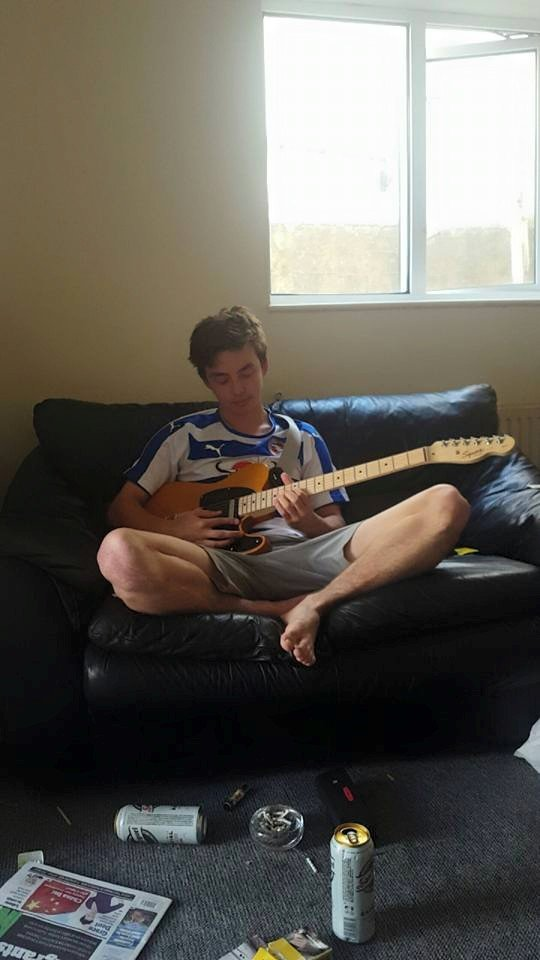 My Reading shirt and my Guitar - two of my favourite things