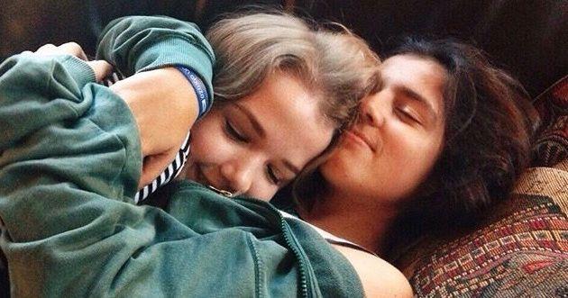 Image may contain: Kissing, Kiss, Asleep, Person, People, Human