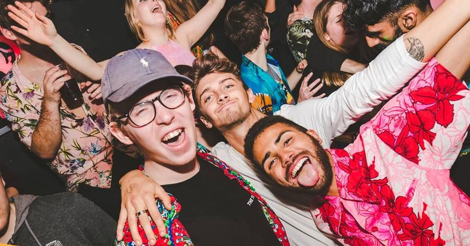 Image may contain: Photography, Portrait, Photo, People, Night Club, Crowd, Smile, Night Life, Club, Accessories, Glasses, Accessory, Face, Person, Human, Party