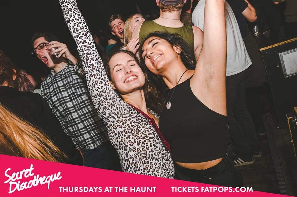 Image may contain: Poster, Advertisement, Face, Night Club, Club, Human, Person, Party