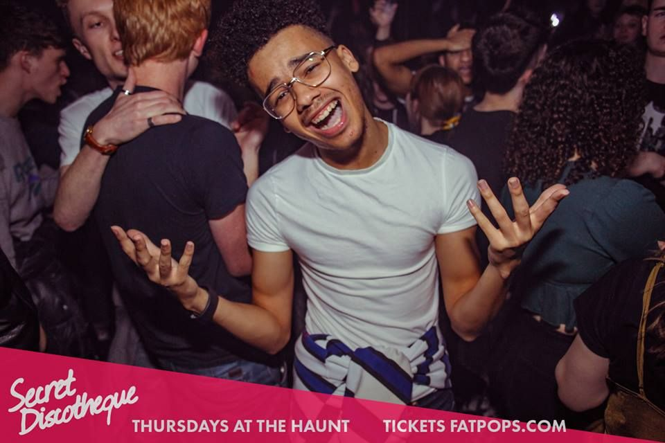 Image may contain: Night Life, Hair, Accessory, Glasses, Accessories, Night Club, Club, Party, Human, Person