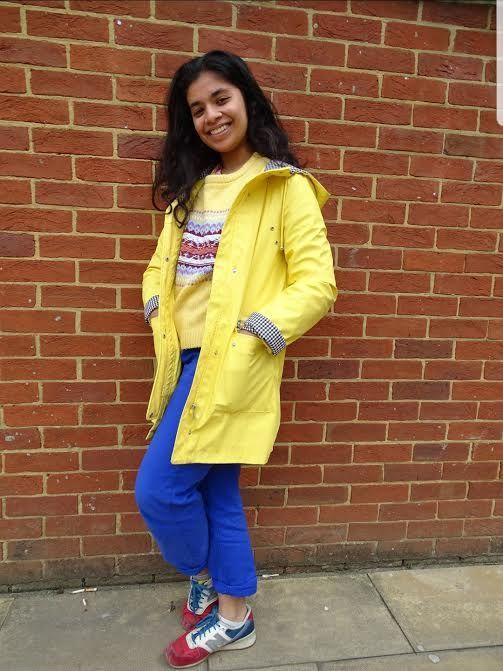 Image may contain: Shoe, Footwear, Human, Person, Raincoat, Coat, Apparel, Clothing