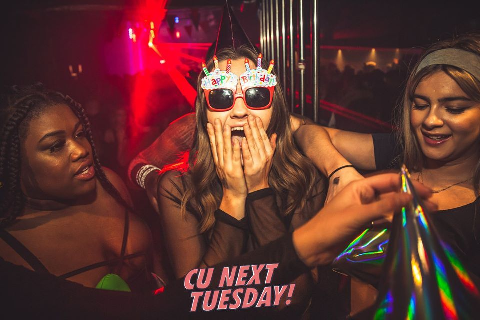 Image may contain: Disco, Night Club, Club, Person, Human, Accessory, Sunglasses, Accessories