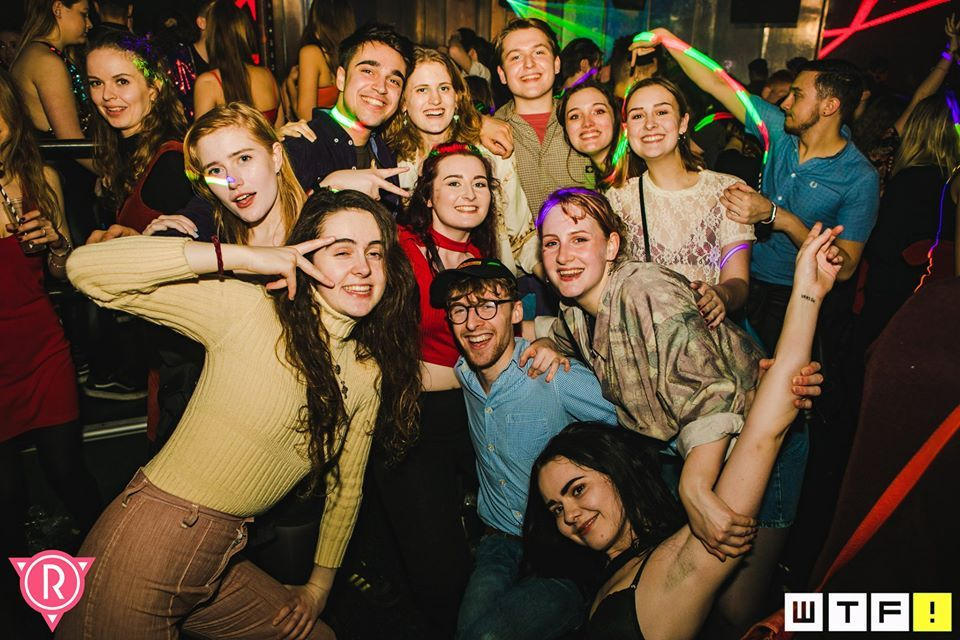 Image may contain: Photo, Photography, Portrait, Night Life, Night Club, Club, Face, Human, Person, Party