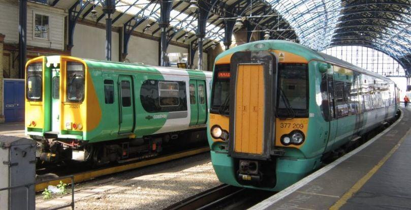 Image may contain: Subway, Human, Person, Rail, Train Track, Railway, Terminal, Train Station, Train, Vehicle, Transportation