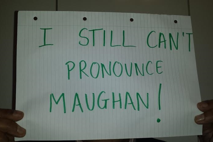 Jack can't pronounce Maughan.