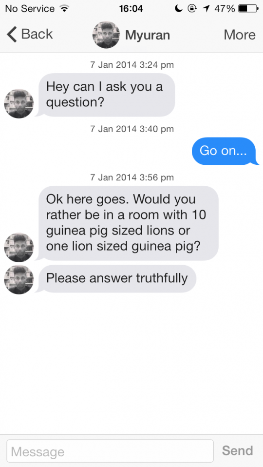 On to tinder conversation ways Good a start