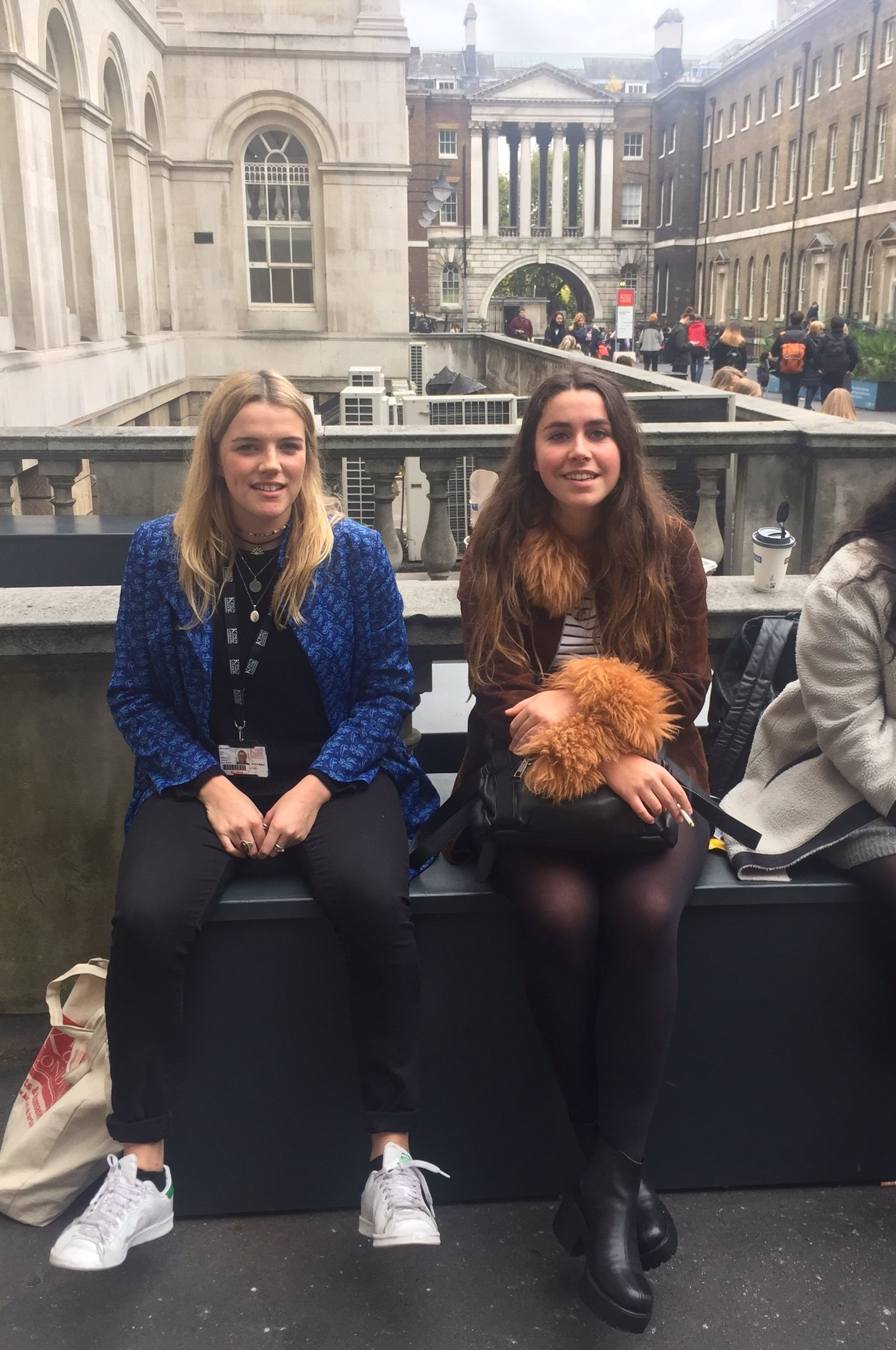 (Left) Olivia,1st year, French, (right) Joana, 1st year, French and English