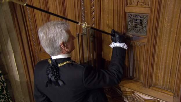 The Black Rod bangs on the door