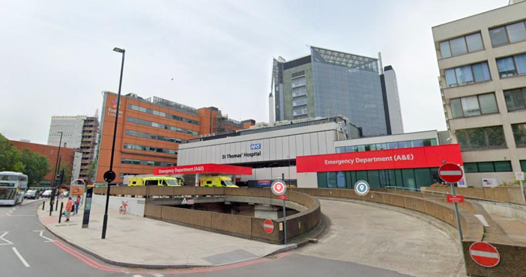 Outside of St Thomas hospital