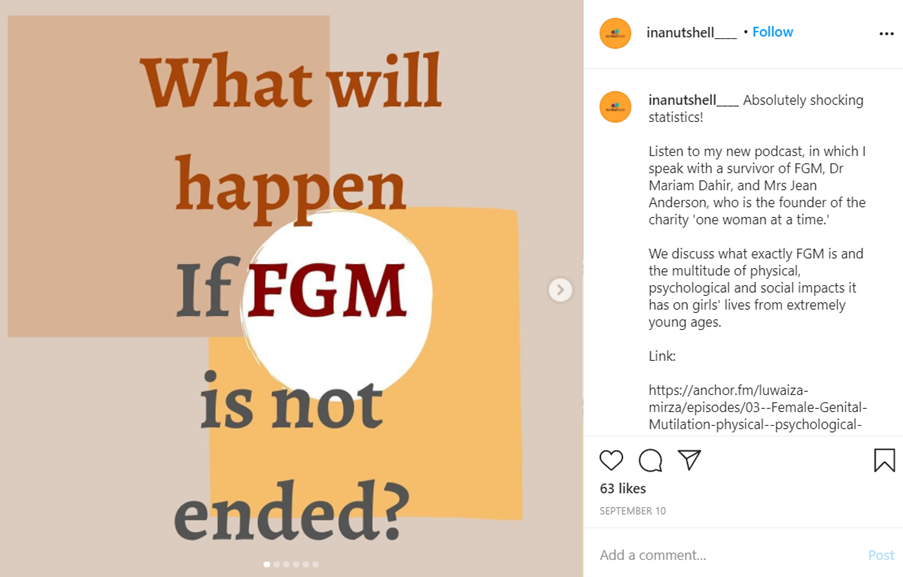 In a Nutshell post about FGM