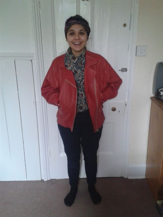 cheeky Red leather Jacket £15