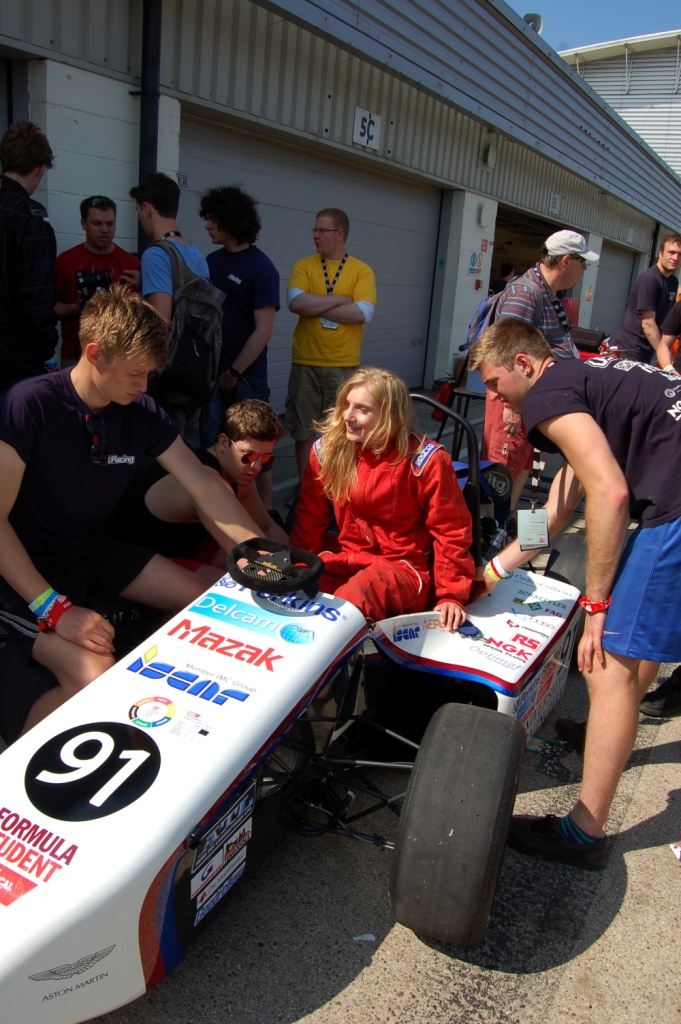 Sometimes even girls are allowed near the car (for publicity purposes only obvs!!)