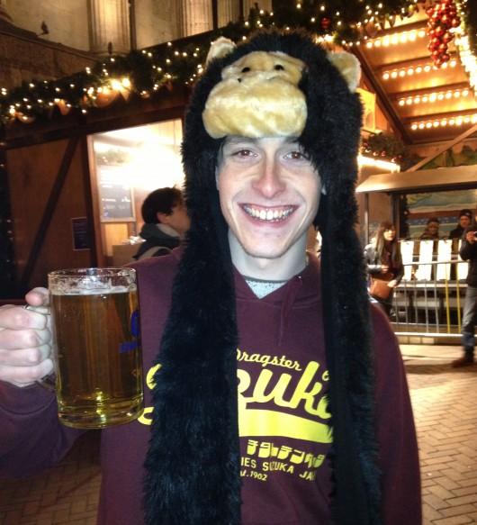 Christmas, monkey + beer = ?