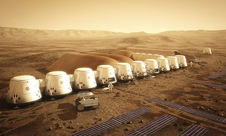 Artists impression of the Mars One site