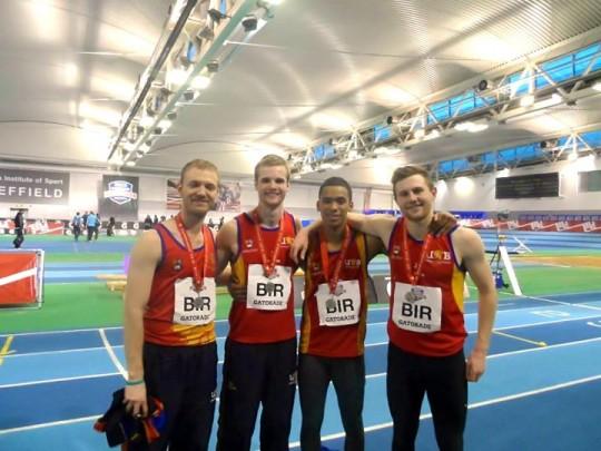 Athletics 4x200 men medals