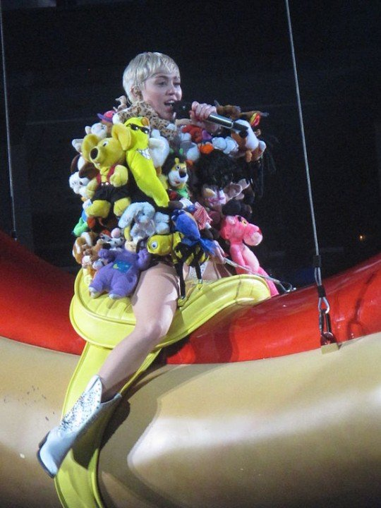 Remarkable idea Miley cyrus concert slutty