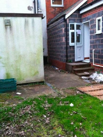Burglars often use shared gardens to break into houses through unlocked back doors