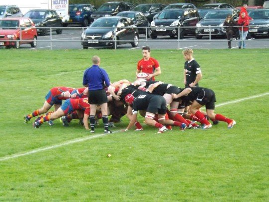 Hartpury asserted their strength at scrum time