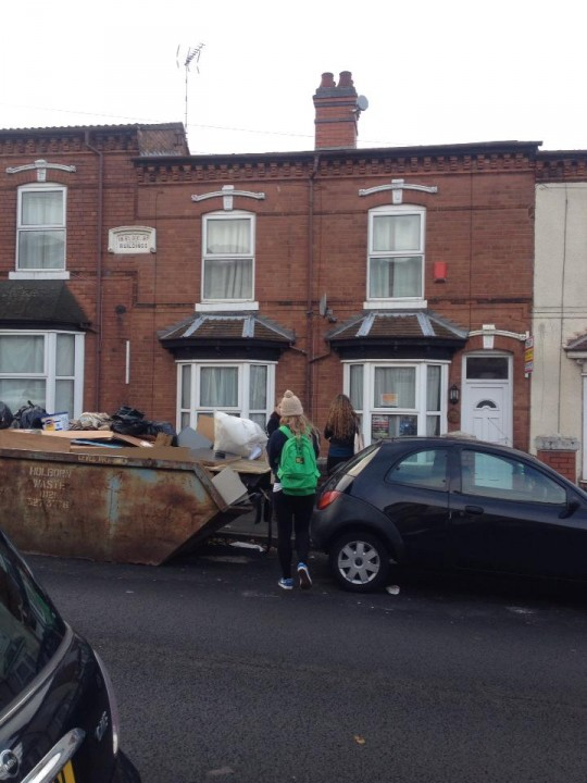 Typical houses in Selly Oak which are available for freshers to rent.