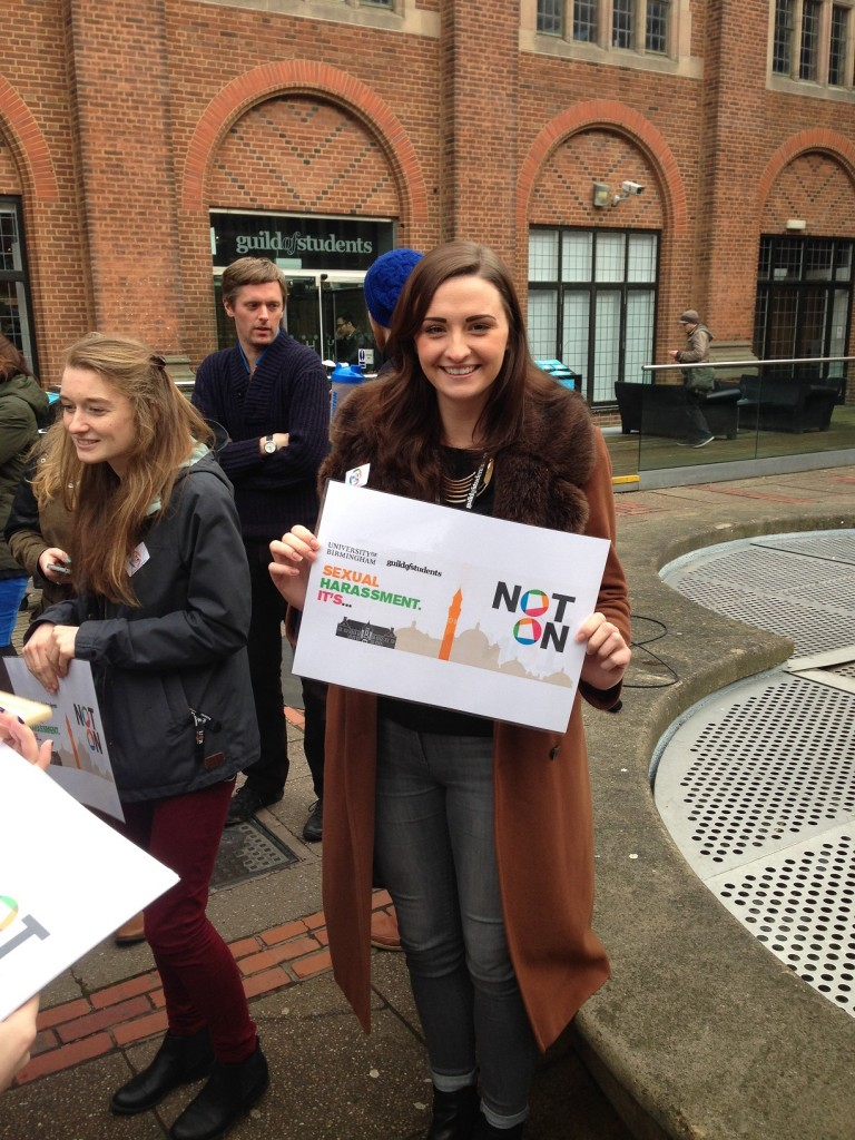 Poppy Wilkinson, a member of the 'It's Not On' Campaign.