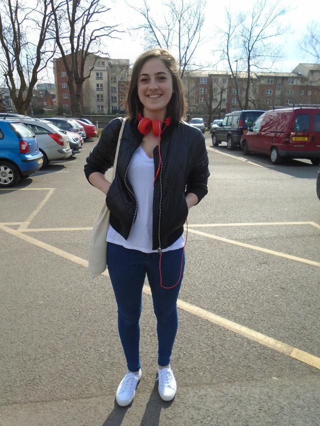 Elise Barley, English Literature, Topshop bomber jacket