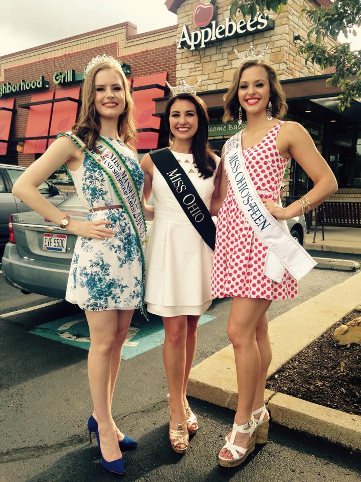 Jessica on the left with Miss Ohio on the right