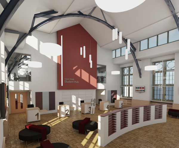 The brand new interior of the Student Hub