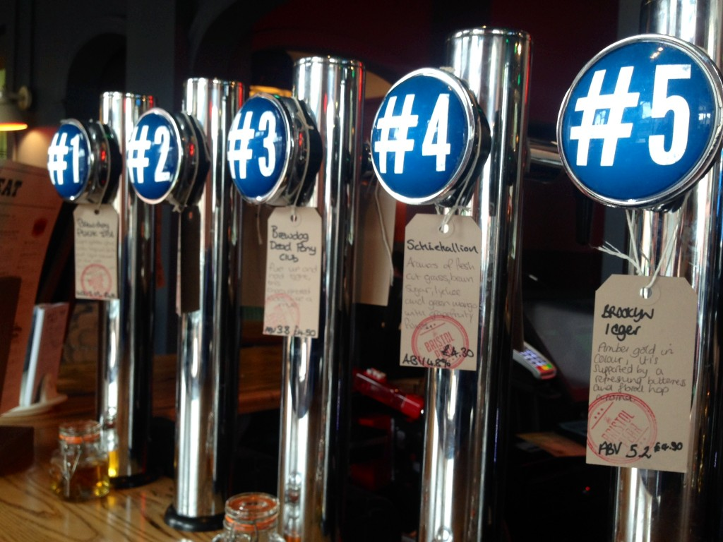 A huge choice of ever changing craft ales