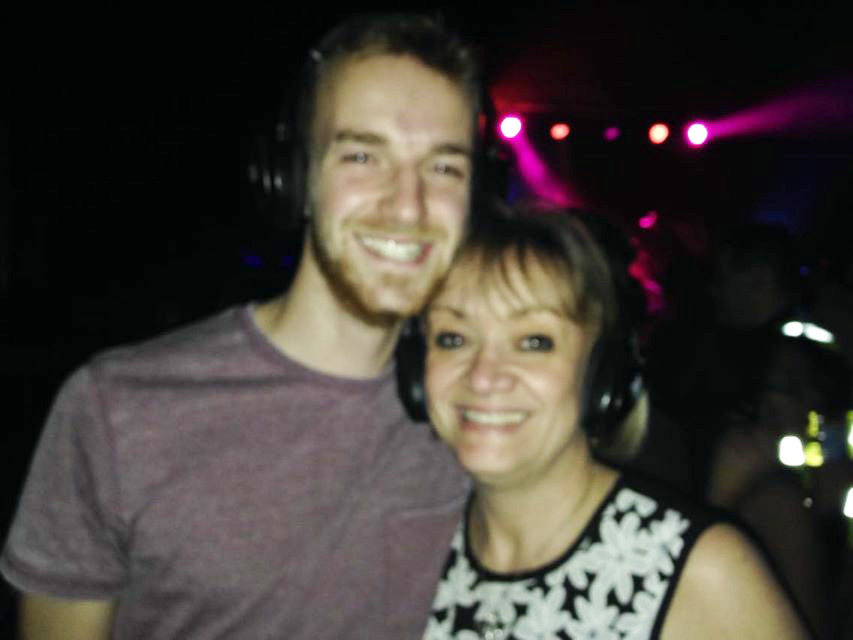Tom and his mum in Fab