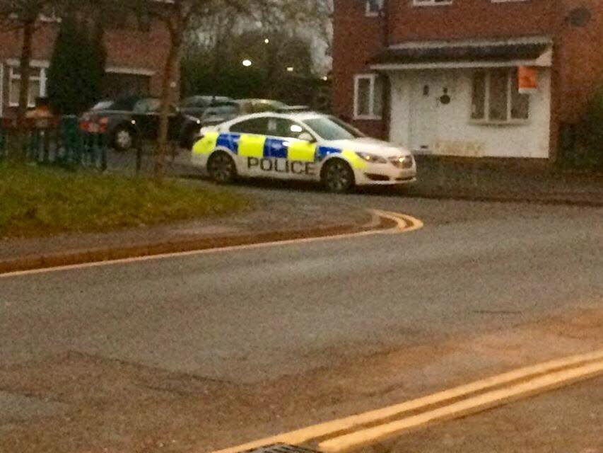 Police car down Heely Road last week.