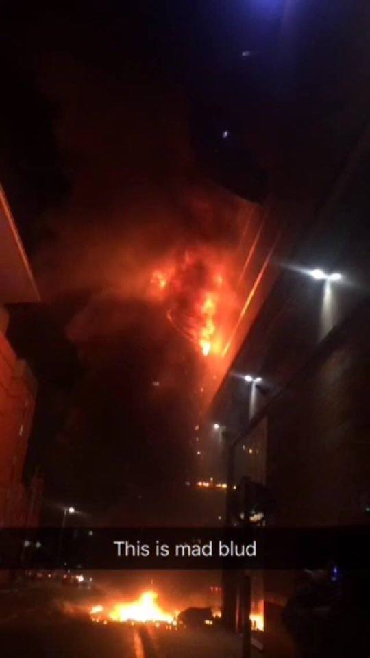 Huge fire erupted yesterday evening
