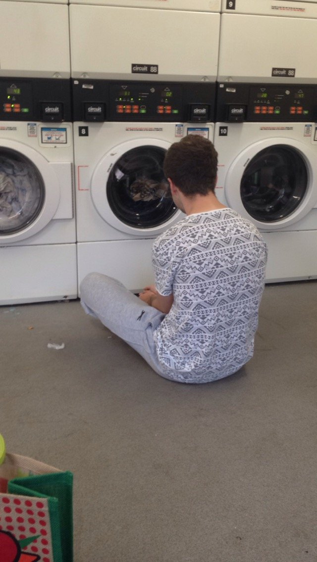 having to do your own washing