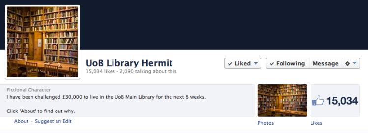 library hermit