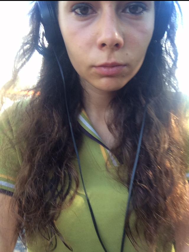 Grumpy me on my way to work