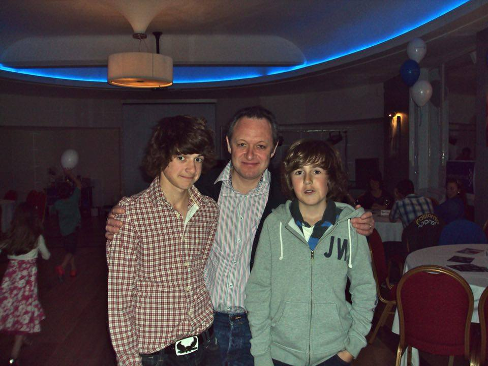 George with his dad and Harry before he was diagnosed