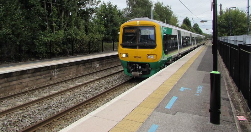 Image may contain: Vehicle, Transportation, Train