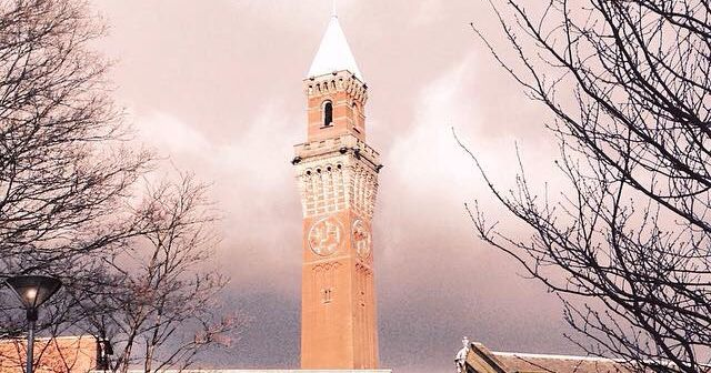 Image may contain: Clock Tower, Bell Tower, Tower, Building, Architecture