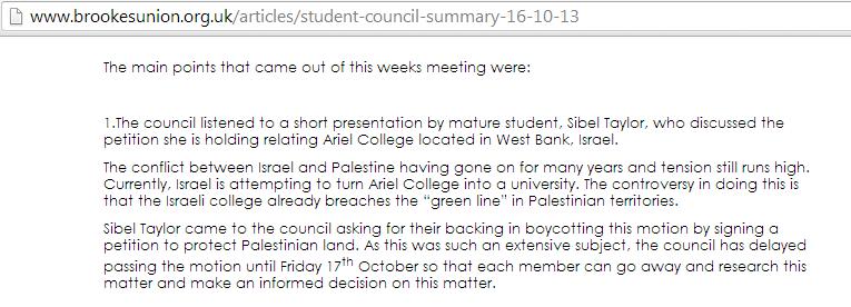 SU bureaucrats would rather discuss international politics than Brookes student issues