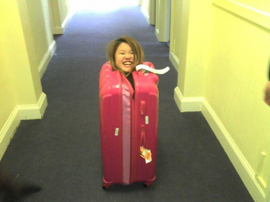 Melody has discovered a novel way to avoid plane tickets