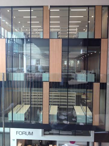 'The Cube' style (presumably quiet) rooms in the new library