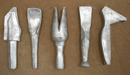 The five pewter tools