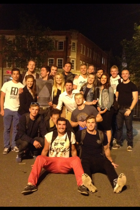 OBUBC and volunteers after a busy day of campaigning