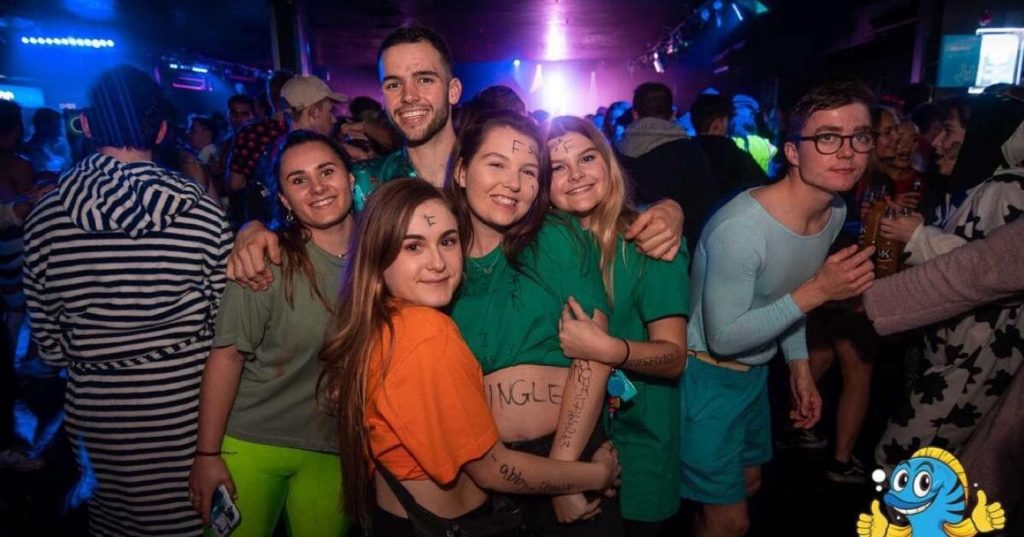 Image may contain: Disco, Night Life, Night Club, Club, Party, Human, Person