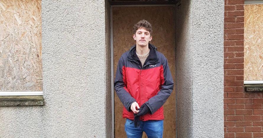 Image may contain: Jacket, Raincoat, Human, Person, Coat, Clothing, Apparel