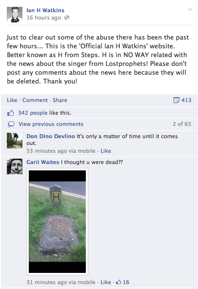 "Leading to 'H"" having to defend himself (shout out to the comic genius who posted the gravestone pic)"