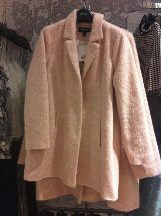 Get the look: fluffy swing coat, £89 at Cabot Circus Topshop.
