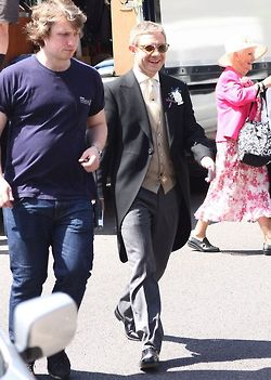 Martin Freeman in wedding gear