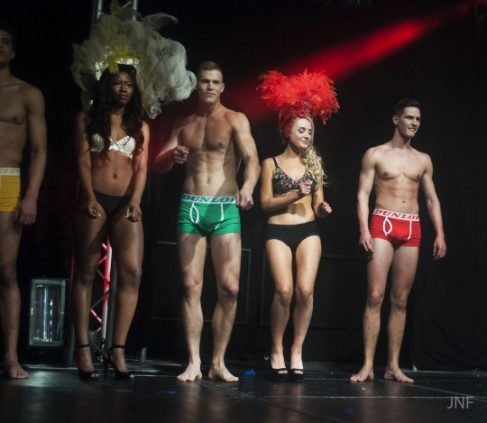 Fuze 2013 - they just love getting their models naked! Photo: Jessie Fuellenkemper