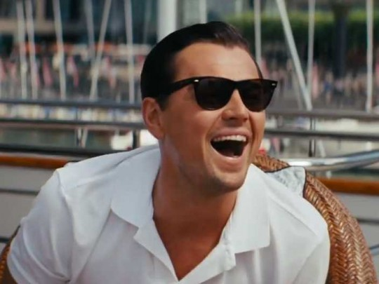 Leo Di Caprio in 'The Wolf of Wall Street'